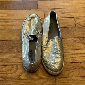 Sperry top sided sparkling gold slip ons